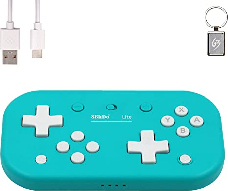 8Bitdo Lite Bluetooth Wireless Gamepad for Nintendo Switch/Windows/Raspberry Pi Controller Azul con Llavero: Amazon.es: Videojuegos