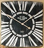 "Old Town Metal Wall Clock, 31 X 29 X 2""D, BLACK WHITE"