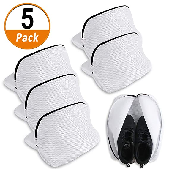 Heqishun 5 Pcs Saco Lavadora para Zapatos, Multi-Protectora Bolsas ...