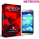 NETBOON® HTC One (M8) / HTC One M8 (Eye) Tempered Glass Premium Screen Protector - Anti Explosion, Ultra Clear Screen Guard, Shatterproof, Anti-Scratch, Bubble-free, Oleophobic Coating, 2.5D Round Edge - 9H Hardness Protect Mobile Screen from Scratches, Dirt, Dust, Bumps, or any unwanted wear and tear