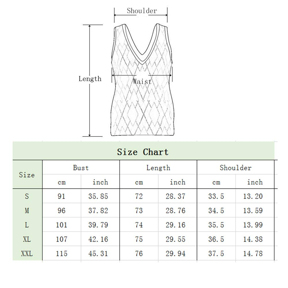 Moscare Womens Summer Sleeveless Solid Color Casual Tank Tops