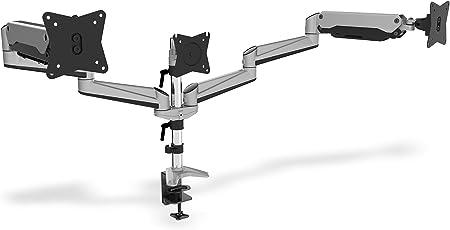 Digitus Monitor Halterung Klemme Gasdruckfeder 3 Monitore Bis 27 Zoll Bis 3x 6 Kg Vesa 75 100 Silber Baumarkt