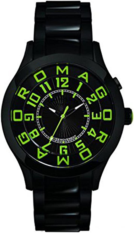 ロマゴデザイン アトラクションシリーズ クオーツ メンズ 腕時計 RM015-0162SS-LUGR ブラック/グリーン [並行輸入品]