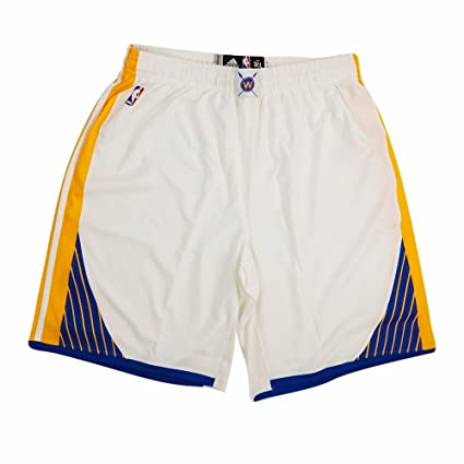 10eefaec0ed adidas Golden State Warriors NBA White Authentic On-Court Climacool Team Game  Shorts for Men