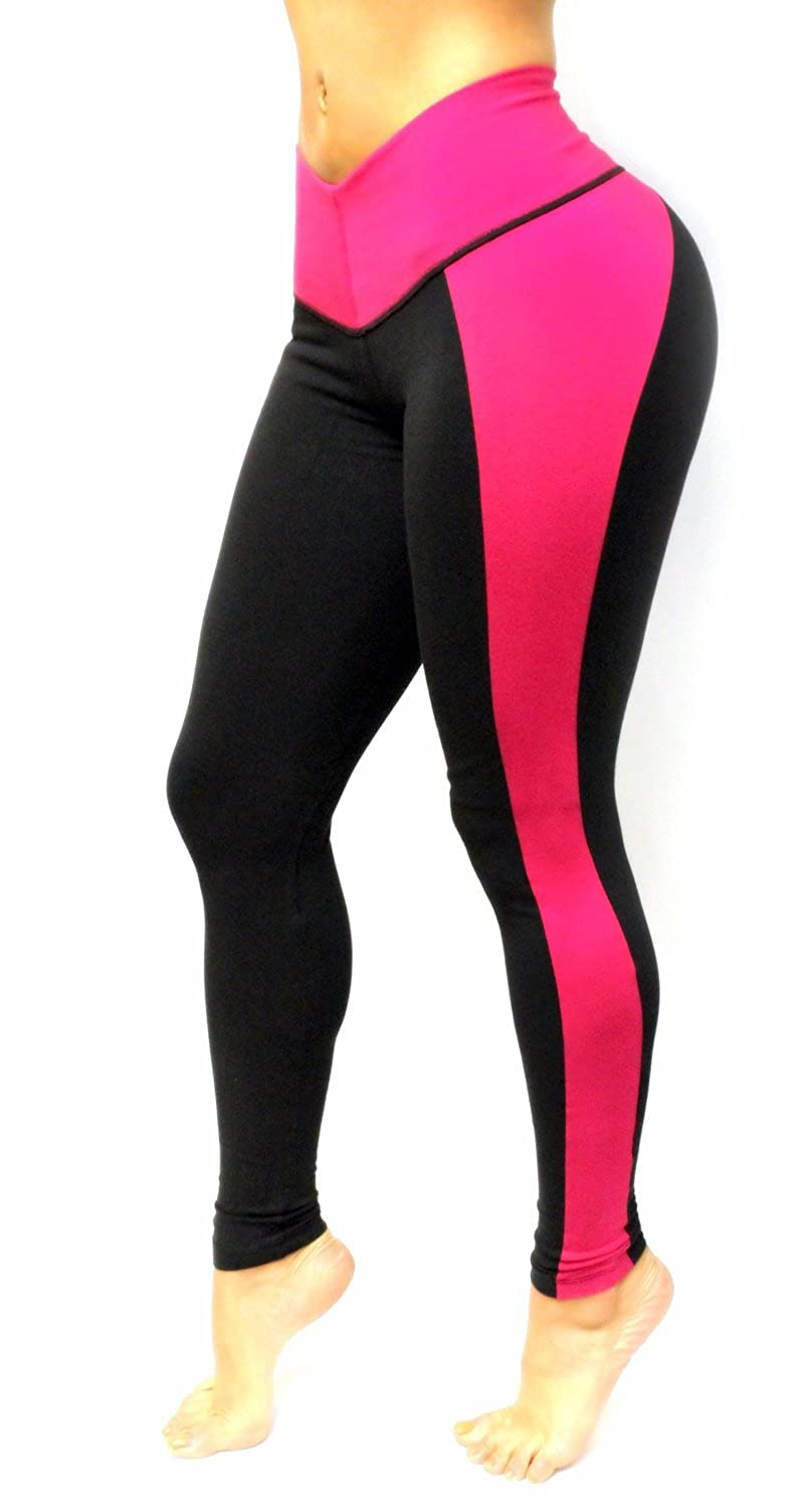 Black and Red Leggings with Internal body shaping girdle
