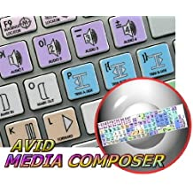 APPLE SIZE KEYBOARD STICKERS AVID MEDIA COMPOSER GALAXY SERIES