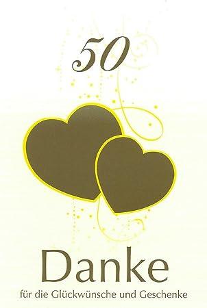 Danksagungskarten Goldenen Hochzeit Ohne Innentext Motiv