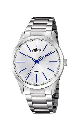 Lotus Watches Reloj Análogo clásico para Hombre de Cuarzo con Correa en Acero Inoxidable 15959/