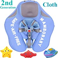 VQ-Ant Swim Trainer 4-24 Months Baby Infant Non-Inflatable Lying Swimming Pool Float Ring Waist Float Ring Floats Pool Toys Swimming Pool Accessories Classic Swim Ring (Blue)