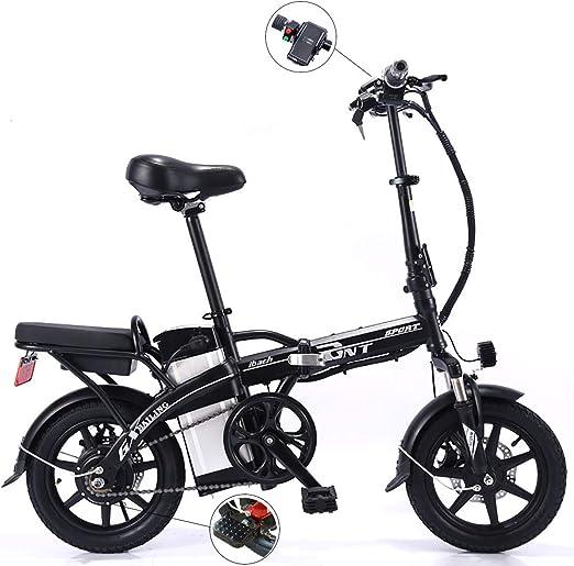 PXQ Adulto 14 Pulgadas Plegable Bicicleta eléctrica 250W 48V ...