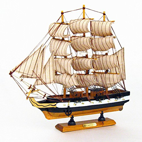 Constitution Wood Tall Ship Model - 8