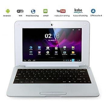 G-Anica Netbook Ordenador portátil 10 Pulgadas Android 5.0 (WiFi, 1.5GHz 1GB de RAM, 8GB de Disco Duro) (Plata): Amazon.es: Informática