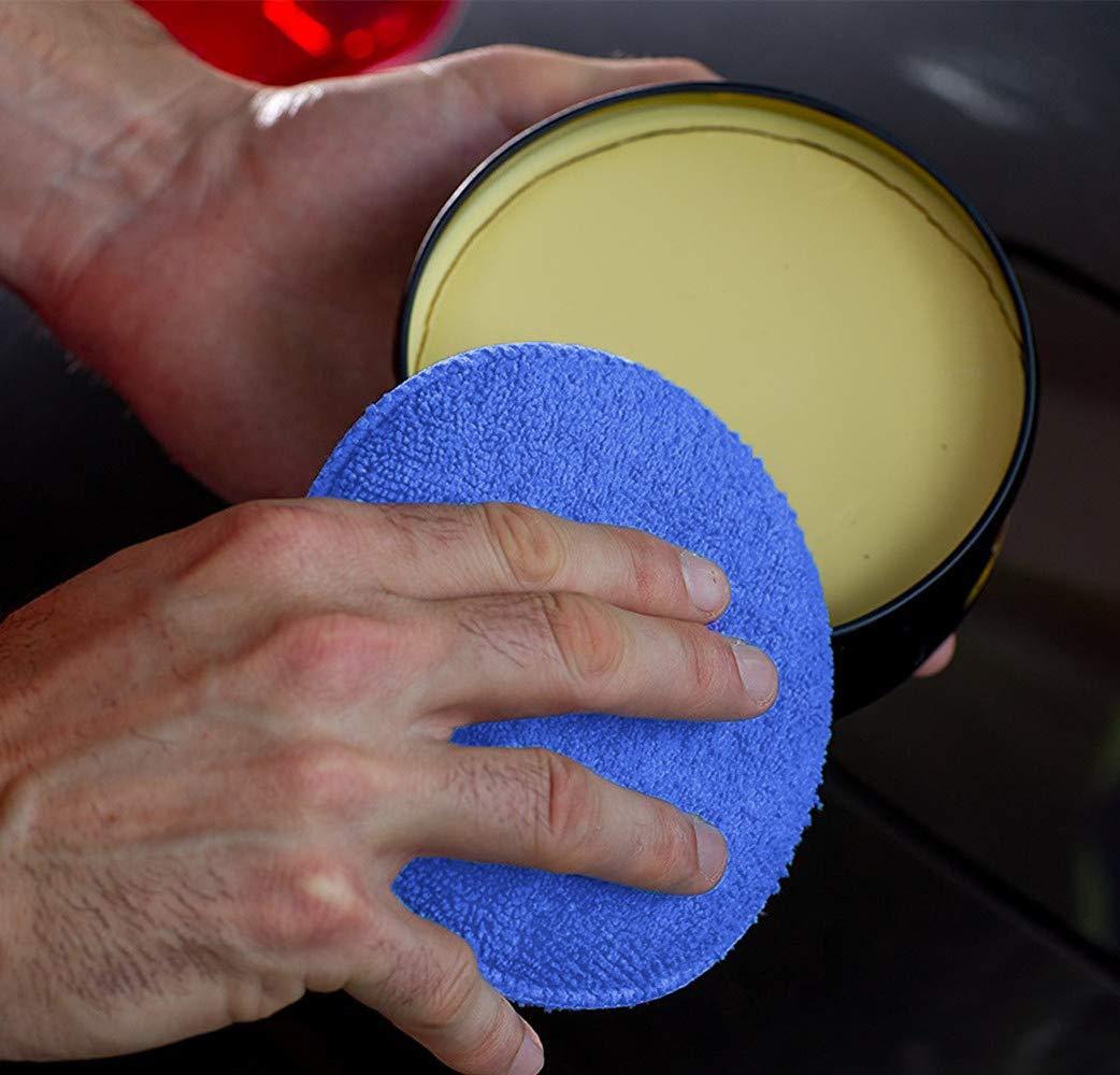 WildAuto Microfiber Wax Applicator Car Foam Wax Sponge Applicator Pads Blue 10PCS