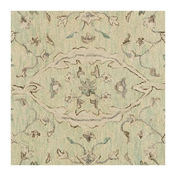 """Amazon Brand – Stone & Beam Serene Tassled Wool Runner Rug, 2' 6"""" x 8', Multi - 80% Wool 20% Cotton Imported Delicate details of beige and blue accent this neutral runner. Its soft, soothing wool lends comfort and an elegant anchor to any traditional, transitional or contemporary room. - runner-rugs, entryway-furniture-decor, entryway-laundry-room - 612Itl0G8LL. SS570  -"""