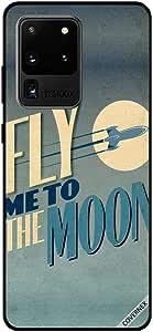 جراب لهاتف سامسونج S20 ألترا مطبوع عليه Fly Me To The Moon
