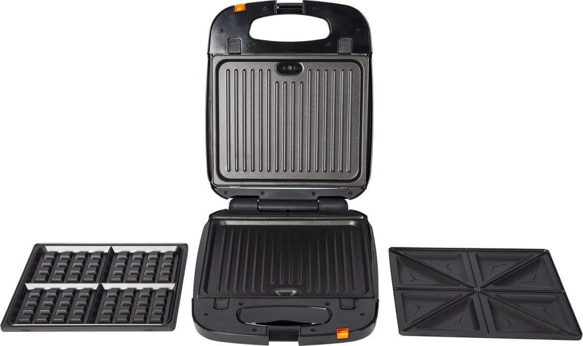 Trebs 3/in 1/Snack Appareil /à Sandwich Maker Gaufrier Grill Taille XXL 1200/W 99345