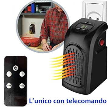 Dobo® Mini Estufa portátil de casa Ventilador toma eléctrica ajustable Distancia 400 W Calefactor de