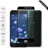 Protectores de Pantalla HTC U11[Versión mejorada perfecta], Beyeah Full Películas de Protección Completa Vidrio Templado [ Bordes curvados ] Cristal Film protectora HD Invisible para HTC U11 (Negro)