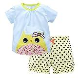 Jobakids Little Girls Short Set Summer Cotton Clothing Set