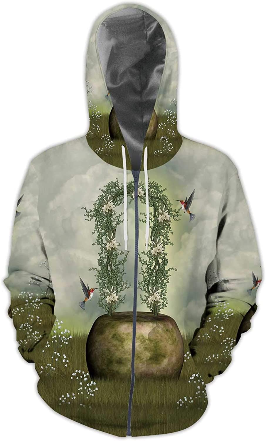 Colorful,Mens Print 3D Fashion Hoodies Sweatshirts Badge with a Colorful of The Royal Lion S