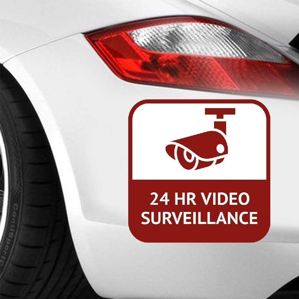 iopada 15.9Cm X 15.9Cm Vinyl Car Decal Personality CCTV 24 Hour Video Surveillance Car Sticker Funny for Windows Laptop Decal