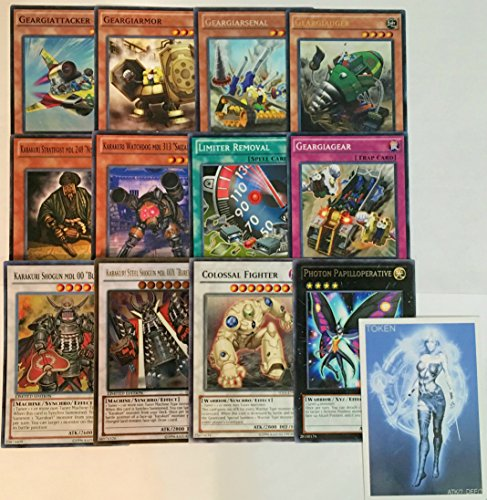YUGIOH Tournament Ready Geargia Karakuri Deck with Complete Extra Deck and exclusive Phantasm Gaming Token - Tournament Ready Gear Deck