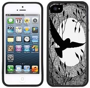 Owl Moon Handmade iPhone 5 Black Bumper Plastic Case