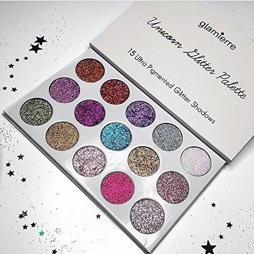 Glamierre Unicorn Glitter Eyeshadow Palette - 15 Ultra Cream