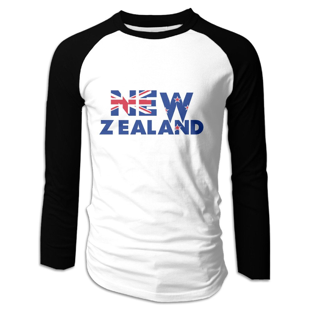 New Zealand S Casual Raglan Baseball T Shirt 8685