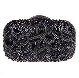 Fawziya Bling Luxury Clutch Purse Handbags Womens Evening Bags-Black