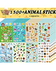 Animal Stickers, Stickers for Kids Assortment Set 1300 PCS, 8 Themes Collection for Children, Teacher, Parent, Grandparent, Kids,Craft,School, Scrapbooking,Present Idea for Children,Christmas stickers