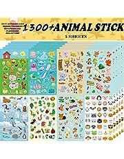Animal Stickers, Stickers for Kids Assortment Set 1300 PCS, 8 ThemesCollection for Children, Teacher, Parent, Grandparent, Kids,Craft,School, Scrapbooking,Present Idea for Children,Christmas stickers