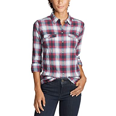 3f403452c7 Eddie Bauer Women s Classic Packable Shirt at Amazon Women s Clothing store