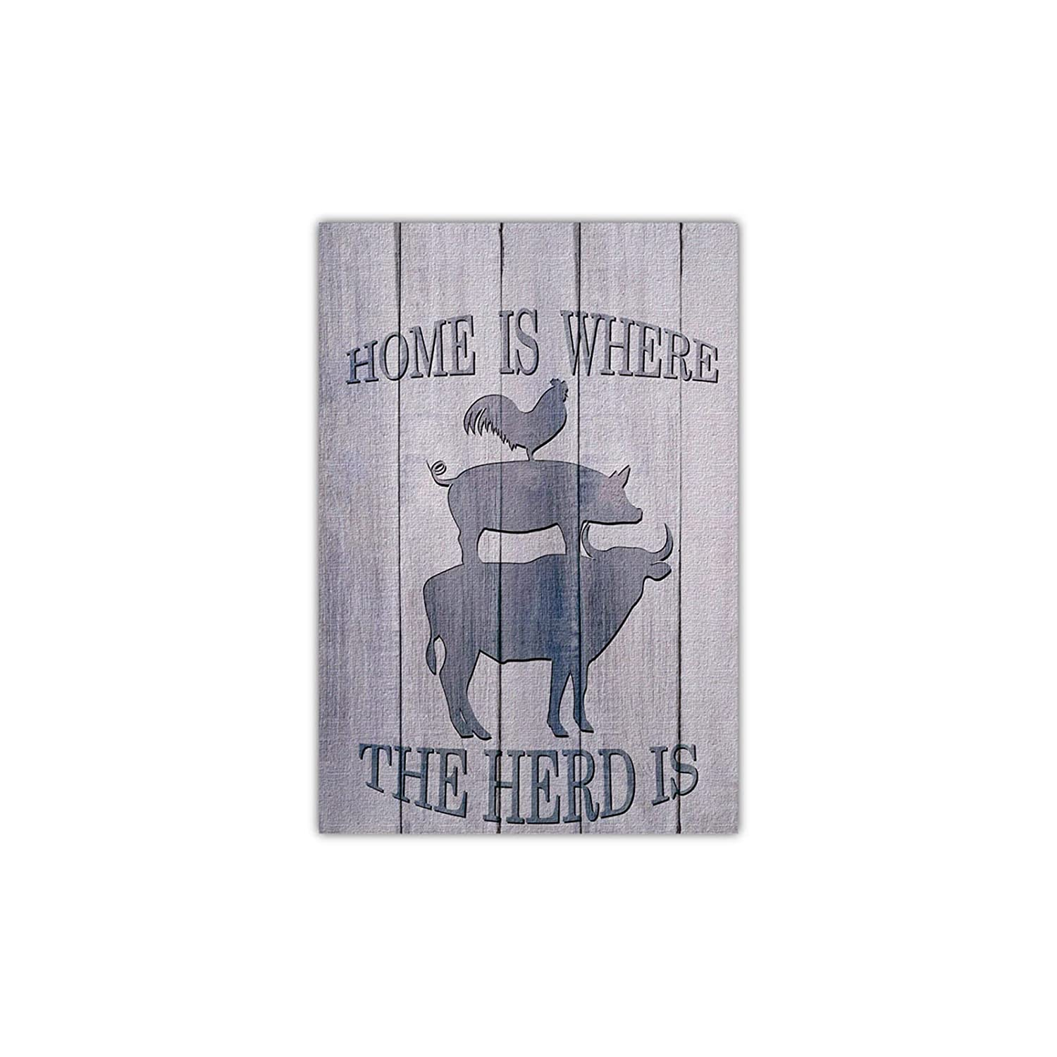 Meltelot Home Is Where Welcome To Farm Garden Flag, Farm Animals Cattle Pig and Cock Holiday Garden Flags for Outdoor Yard Porch, Decor for Out Side Vertical Double Side 12x 18 Inches