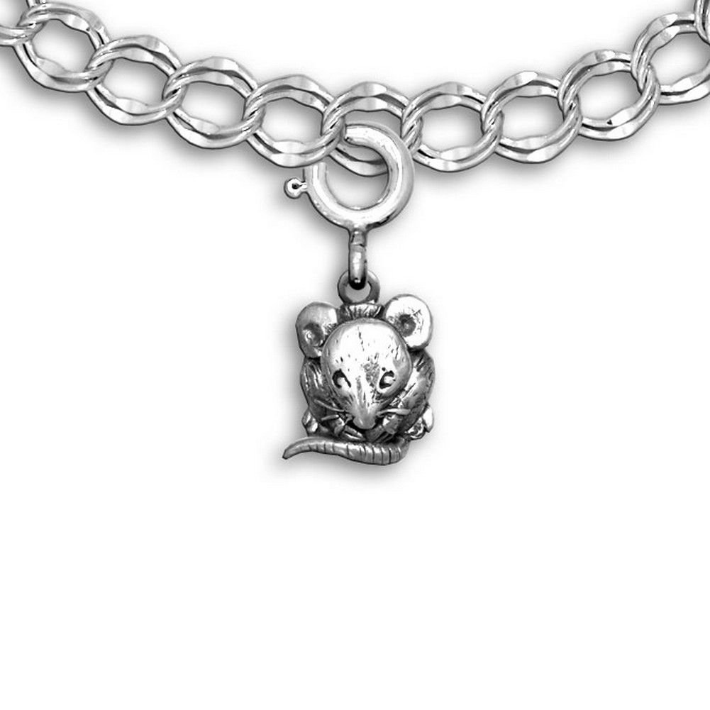 The Magic Zoo Sterling Silver Mouse Charm for charm bracelet