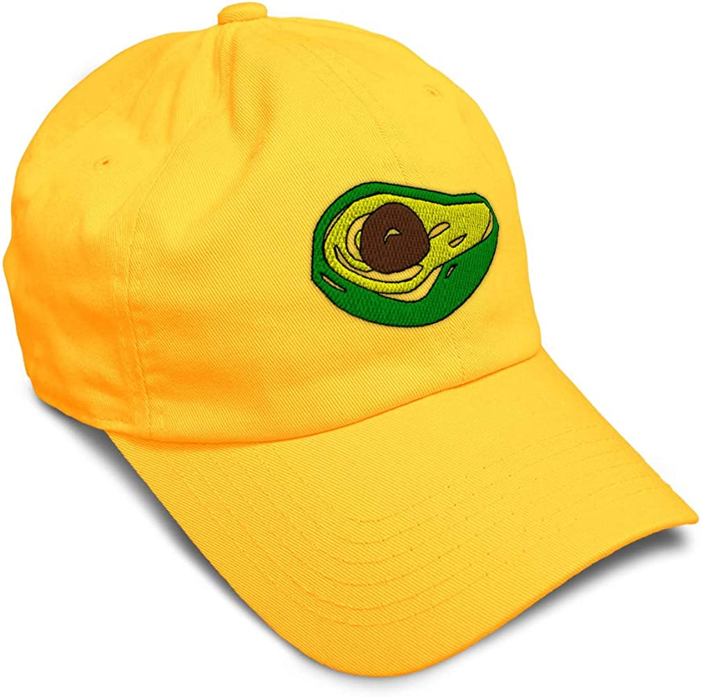 Custom Soft Baseball Cap Avocado Fruit Style B Embroidery Twill Cotton