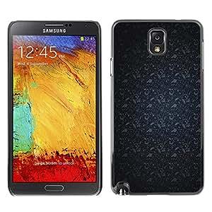 X-ray Impreso colorido protector duro espalda Funda piel de Shell para SAMSUNG Galaxy Note 3 III / N9000 / N9005 - Pattern Navy Blue Gray