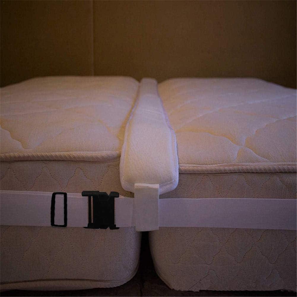 Longue 200cm X Largeur 20cm X Hauteur 7.5cm Qucover Pont de Matelas pour lit Double,Connecteur de lit,Connecteur de Matelas,Pont d/'Amour,et Sangle de Connexion r/églable,Mousse