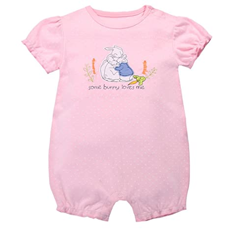 Bebé Niñas Mono Mameluco - Pijamas Bebé Peleles Algodón Mameluco Monos Manga Corta Bebé Body,