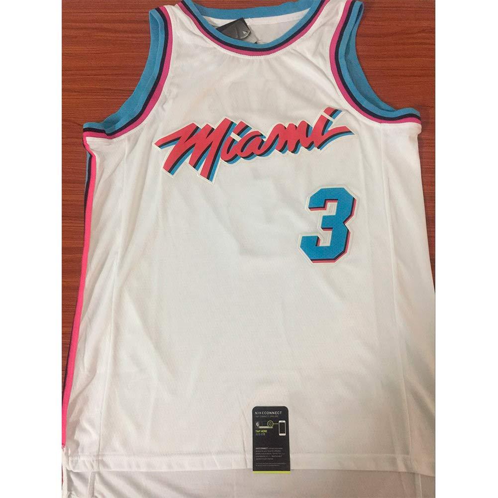 YIXUAN Herren Jersey Trikot Miami # 3 Dwyane Wade Swingman Basketball Trikot