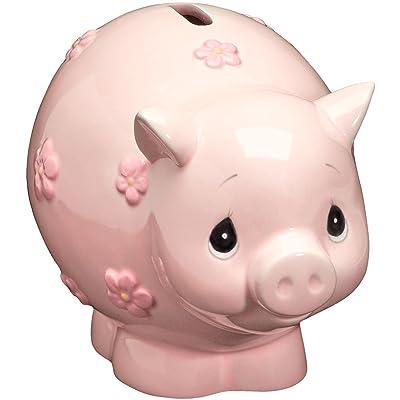 Precious Moments 162425 Baby Piggy Bank Ceramic Figurine: Home & Kitchen