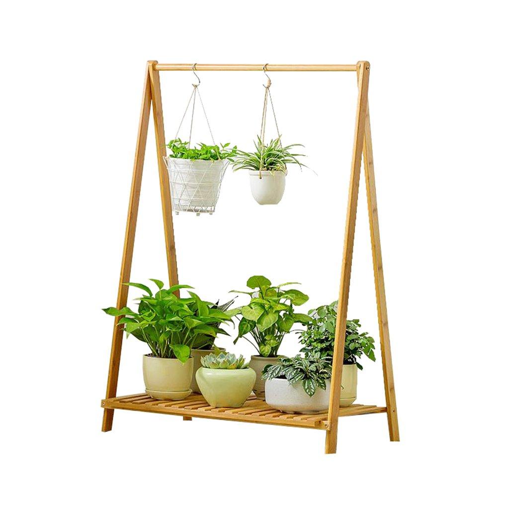 Flower Stand Pieghevole in legno può essere appeso 1 piano per balconi Flowerpot da pavimento in vaso Vetrina per esposizione mensole Succulente Indoor Outdoor
