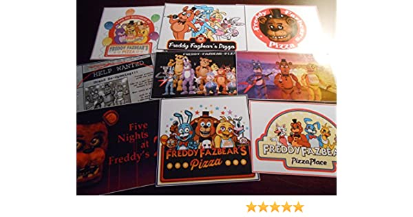 Pre Cut One Inch Bottle Cap Images Five Nights at Freddie Free Shipping