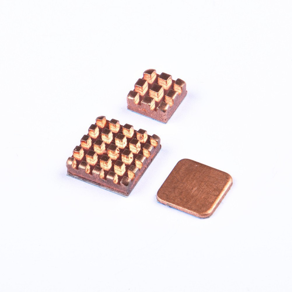 GeeekPi Raspberry Pi Heatsink Kit 3PCS Copper Heat Sink Cooling Heatsinks with Thermal Conductive Adhesive Tape for Raspberry Pi 3//2 Model B /& Raspberry Pi 3B+