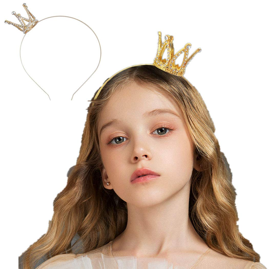 NSLS Shiny Birthday Crown Tiara for Girls Princess Decoration Headband
