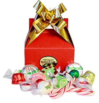 Amazon.com : Christmas Candy Favor Box : Gourmet Candy Gifts ...