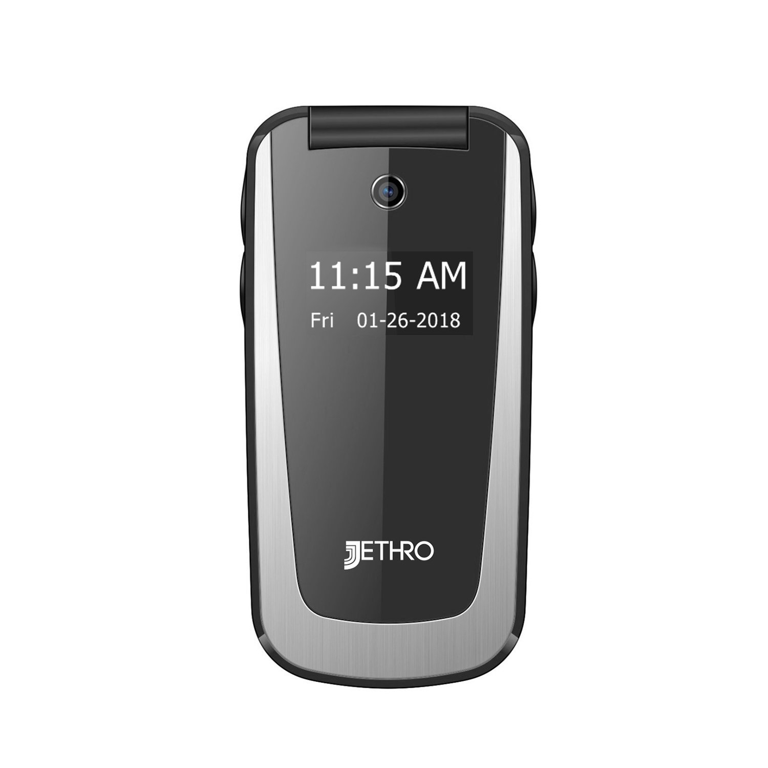 Jethro [SC729] 3G Unlocked Flip Senior & Kids Cell Phone, M4/T4 HAC Hearing Aid Compatible, FCC/IC Certified, SOS Emergency Button, 2.4'' LCD and Large Keypad w/Charging Cradle by Jethro (Image #5)