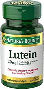 Natures Bounty Lutein 20mg, 40 Softgels, Pack of 3