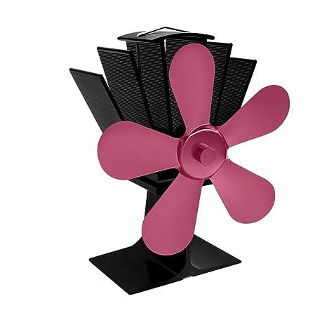 5 Cuchillas Estufa de Calor Desarrollado Ventilador silencioso de la Estufa de Calor Desarrollado Ventilador Ventilador