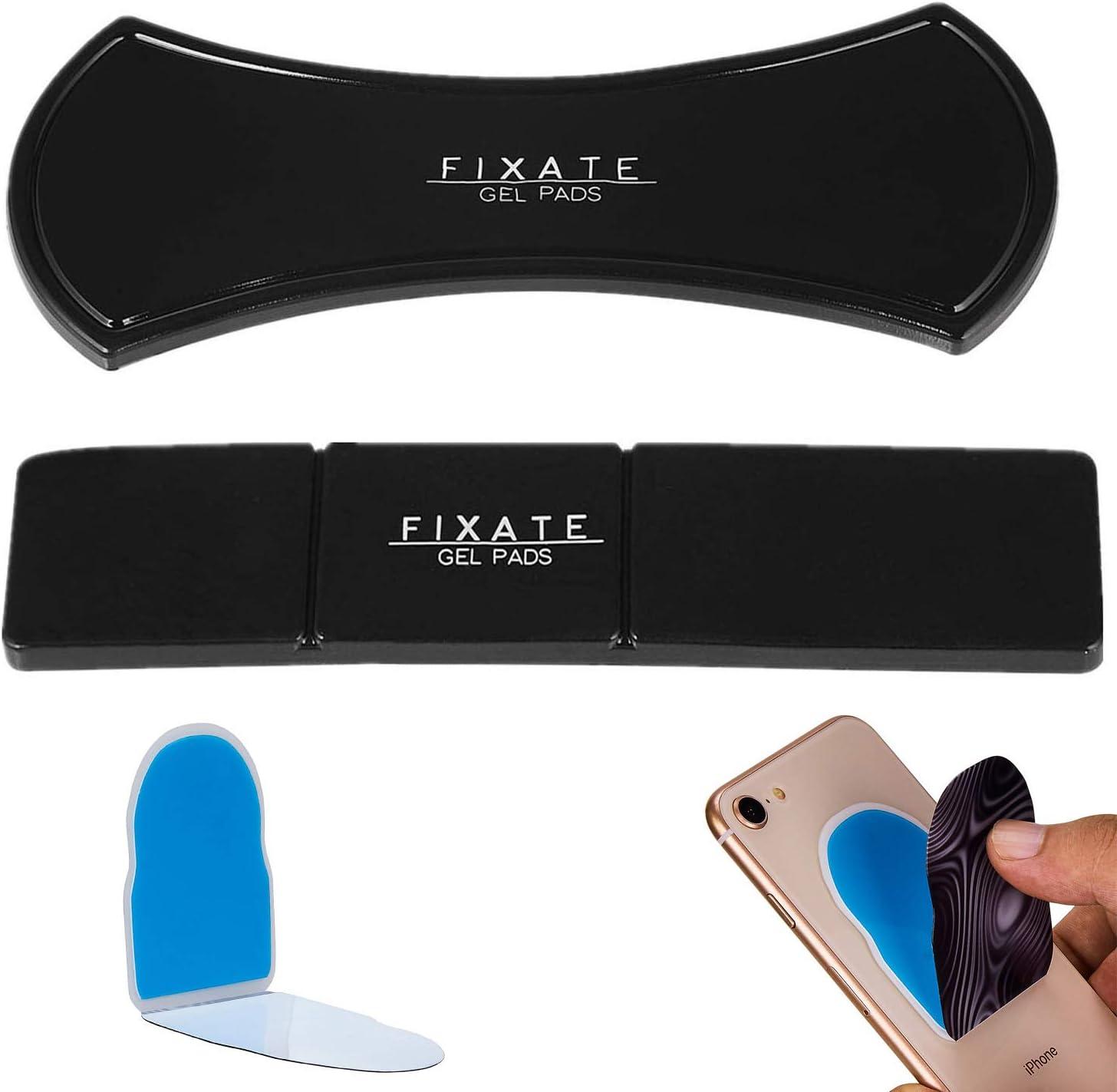 Fixate Cell Gel Pads Flourishiversal Aufkleber Für Handy Auto Handy Plus Ständer Sticky Pad Für Alle Android Smartphones Lama Amazing Nano Gummi Pad 3er Pack Elektronik